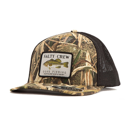 Salty Crew Dixon Retro Trucker Hat - Grass Blades