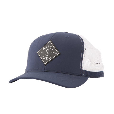 Salty Crew Aruba Custom Retro Trucker Hat- Navy White / Ocean White