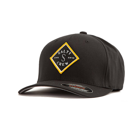 Salty Crew Tippet Stamped 6 Panel Hat - Black