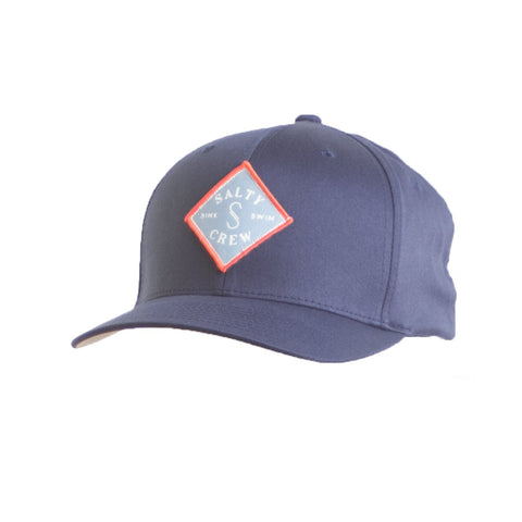 Salty Crew Tippet Stamped 6 Panel Hat -Navy