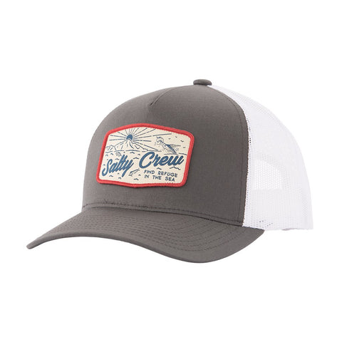 Salty Crew Frenzy Retro Trucker Mens Hat - Dark Grey White