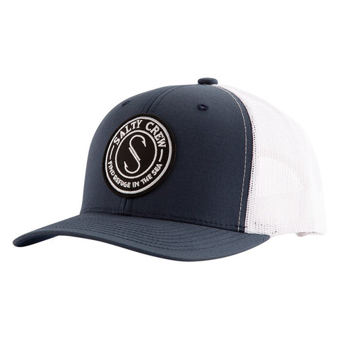 Salty Crew Palomar Retro Trucker Hat - Navy White