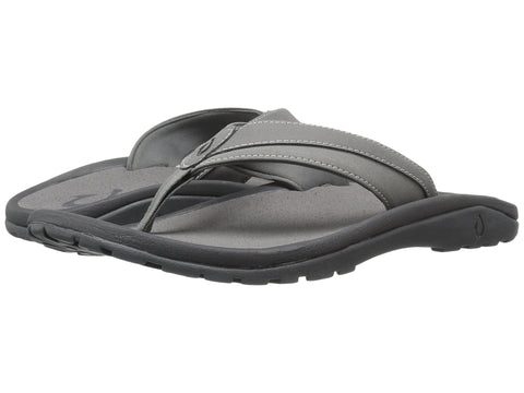 Olukai Men's Ohana Koa Sandals - Charcoal - Charcoal - SURF WORLD Florida