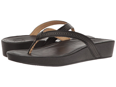 Olukai Women's Ola Sandal - Black/ Black - SURF WORLD Florida