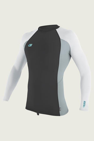 O'Neill Preimium L/S Rashguard - Midnite Oil, Cool Gry, White 4170B SURF WORLD