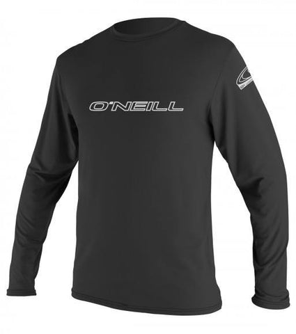 Oneill Basic Skins L/S Rash Tee - Black - SURF WORLD Fort Lauderdale Florida