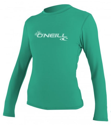 Oneill WOMENS BASIC SKINS L/S RASH TEE - - SURF WORLD Fort Lauderdale Florida