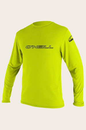 Oneill Youth Basic L/S Rashguard Tee- Lime SURF WORLD