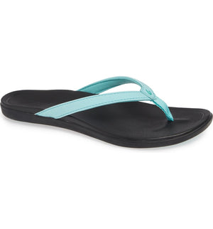 Olu Kai Ho'Opio Women's Sandal Lagoon Black Teal SURF WORLD