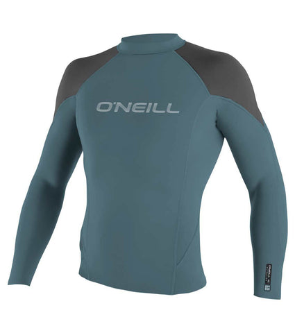 O'neill Hammer 0.5mm LS Crew Wetsuit Top - Dusty Blue Graphite Black - SURF WORLD Fort Lauderdale Florida
