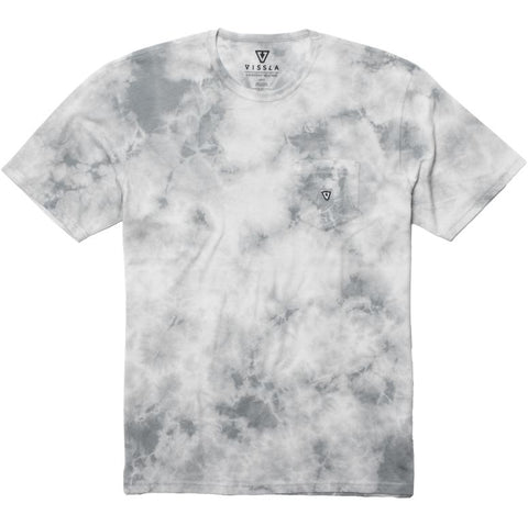 Vissla Calipher Embroidery Tie Dye Tee Steel