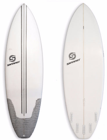 "Skinner Surfboards Mullet Run 5'10.5 x 20.75 "" x 2 1/2"" 34.20 Liters - SURF WORLD  - 1"