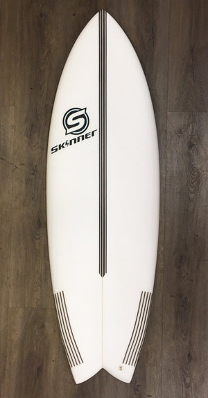 "Skinner 5'6 x 20.75"" x "" 31.4 Liters Quad Swallow Tail EPS Epoxy Surfboard SURF WORLD"