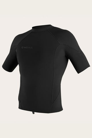 O'Neill Reactor Men's SS 1MM Wetsuit Top - Black