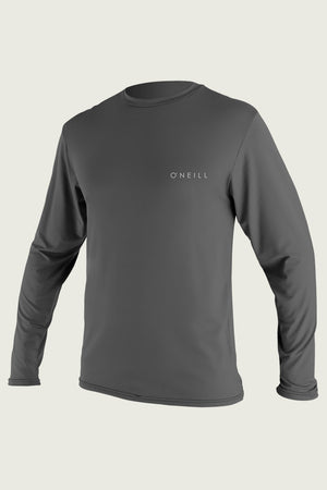 Oneill Men's Basic Skins UPF 30+ LS Rash Tee 5088 -Graphite SURF WORLD