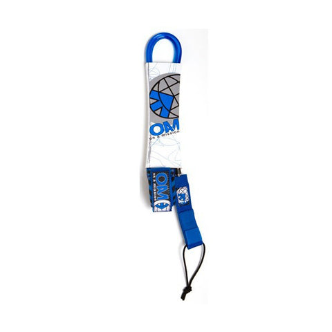 OAM 9' Regular Blue Leash LE10R9BL - SURF WORLD Florida