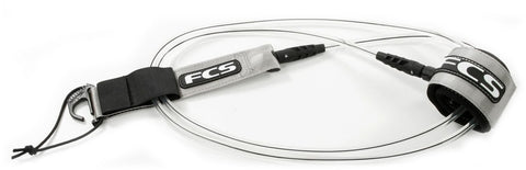 FCS 8' Regular Leash Clear Black Coaxial 2001BLX08F - SURF WORLD  - 1