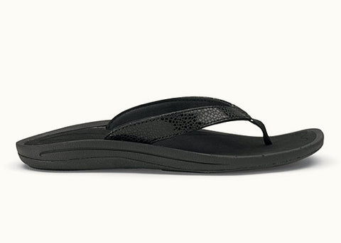 Olukai Women's Kulapa kai Black Sandals - SURF WORLD Florida