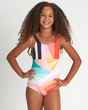 Billabong Easy on Me Girls 1 Piece Swimsuit - Multi