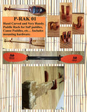 P-Rak01 Beatnik SUP Paddle Wood Wall Rack - SURF WORLD Fort Lauderdale Florida