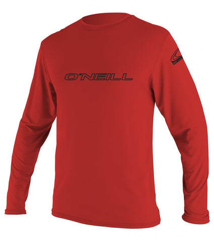 Oneill Men's Basic Skins LS Rashguard Tee 4339 - Red - SURF WORLD Fort Lauderdale Florida