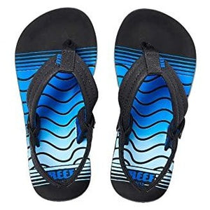 Reef Kids Ahi Sandals - Black Blue Swellular