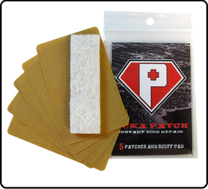 PUKAXL Puka Patch XL Instant Ding Repair 5 Patches And Scuff Pad SURF WORLD