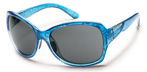 SunCloud Cassandra Blue Print/ Gray Polarized Sunglasses SCRPPGYBL - SURF WORLD Florida
