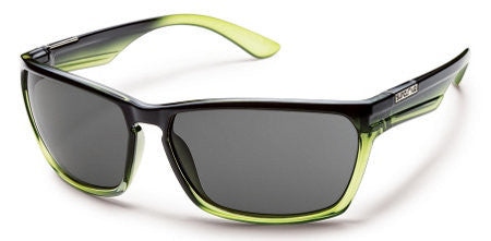 SunCloud Cutout Green Fade/ Gry Polarized Sunglasses SCRPPGYGF - SURF WORLD Florida