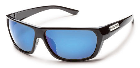 SunCloud Feedback Black/ Blue Mirror Polarized Sunglasses SFBPPUMBK - SURF WORLD  - 1