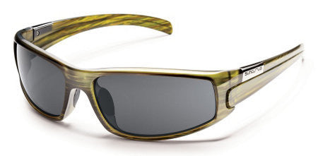 SunCloud Swagger Green Stripe Polarized Sunglasses SSGPPGYGNS - SURF WORLD Florida