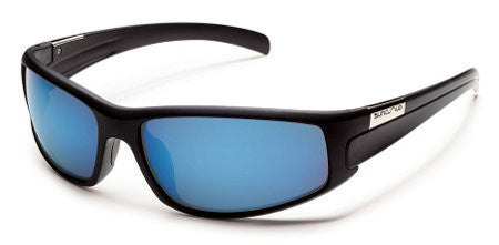 SunCloud Swagger Matte Blk Blue Mirror Polarized Sunglasses SSGPPUMMB - SURF WORLD Florida
