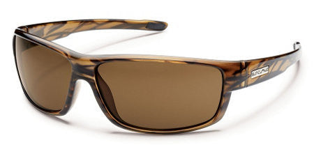 SunCloud Voucher Brown Stripe/ Brown Polarized Sunglasses SVCPPBRBS - SURF WORLD Florida