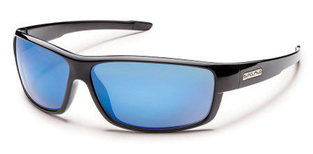 SunCloud Voucher Black/ Blue Mirror Polarized Sunglasses SVCPPUMBK - SURF WORLD Florida