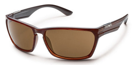 SunCloud Cutout Burnished Brown/ Brown Polarized Sunglasses SCTPPBRBR - SURF WORLD Florida