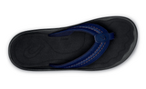 Olukai Hokua Trench Blue/Black  Men's Sandals 10161DE40 - SURF WORLD Florida