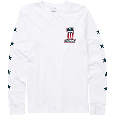 Billabong Number 1 Longsleeve Tee White