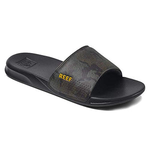 Reef One Slide Mens Slides - Black Word  -  Green Camo  -  Black SURF WORLD