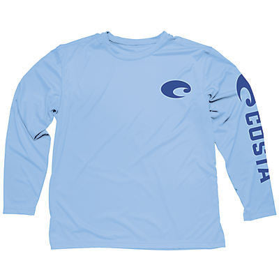 Costa Technical Core Long Sleeve Shirt in Carolina Blue UV Protection - SURF WORLD Fort Lauderdale Florida