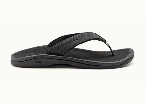 Olukai Women's Ohana Black / Black Sandals Flip Flops - SURF WORLD  - 1