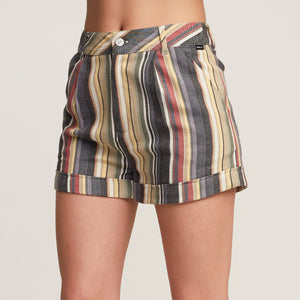 RVCA Guilty Stripe Women's Shorts - Blk