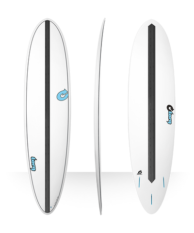 "Torq TET-CS 7'6"" Fun Carbon Strip Surfboarrd - White"