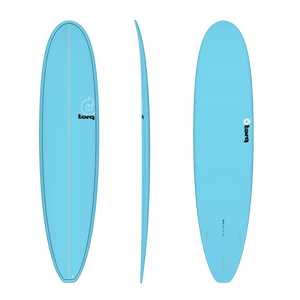 Torq 8'0 TET Mini Longboard Surfboard - Blue