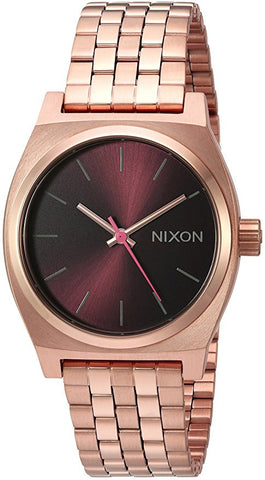 Nixon Medium Time Teller All Rose Gold Brown Watch - SURF WORLD Florida