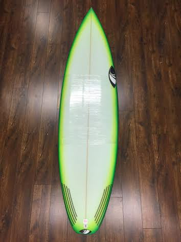 Sharp Eye Holy Toledo 6'0 Future Fins Green Airbrush Surfboard 39657 - SURF WORLD Florida
