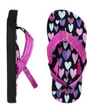 Reef Kids Little Ahi Stars Black Hearts Sandals - SURF WORLD  - 9