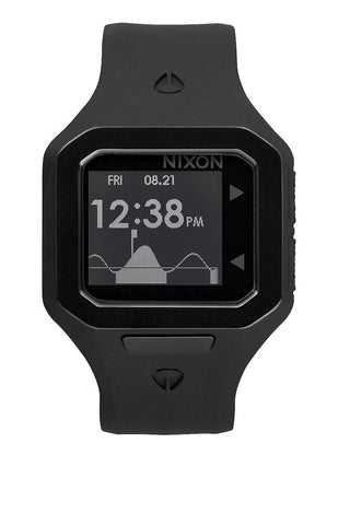 Nixon Super Tide ALL Black Digital  Watch A316001 - SURF WORLD  - 1