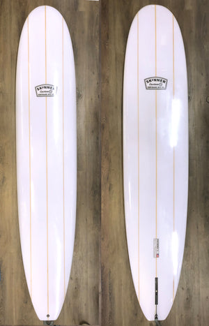 9'6 Skinner Gloss and Polish Triple Stringer Longboard