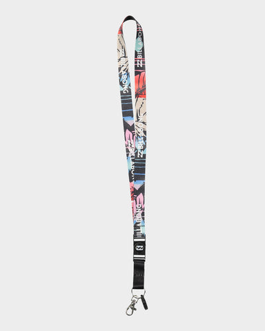 Billabong Looper Lanyard - Org - Gry