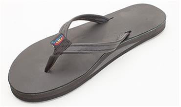 Rainbow Sandals Women's Black Classic Leather Single Layer Narrow Strap 301ALTSNTTBK - SURF WORLD Fort Lauderdale Florida